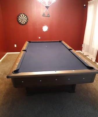 Triple Slate Pool Table w/12 Person Pine Dinning Table